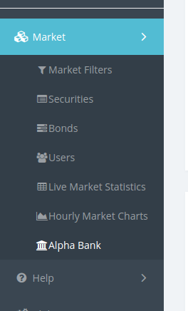 Alpha Bank in the sidebar