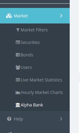 Alpha Bank in the sidebar