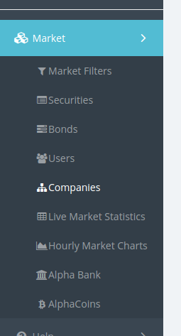 Companies page in the sidebar