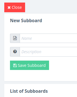 New Subboard